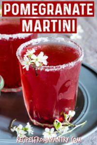 easy pomegranate vodka martinit