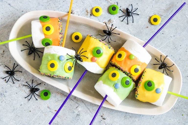 easy halloween treats on a table