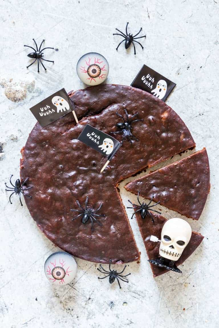 Halloween Brownies On a Table