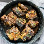 a bowl of slow cooker short ribs