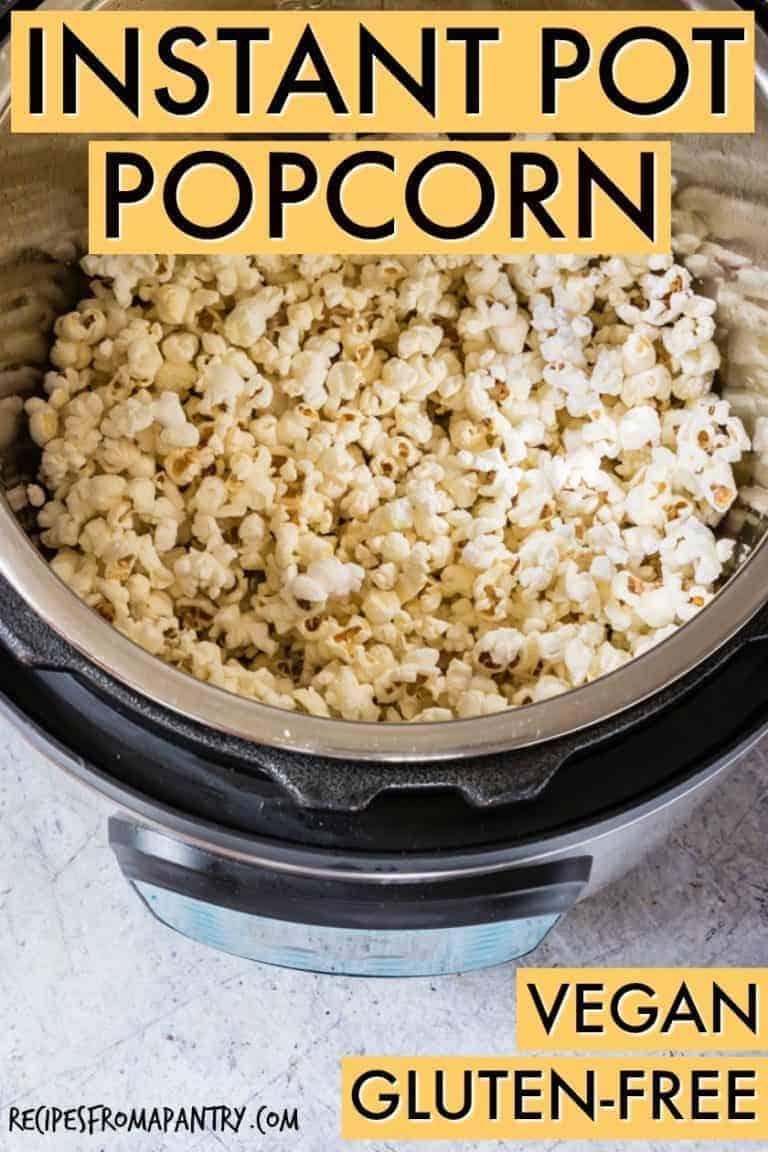instant pot popcorn in the pot