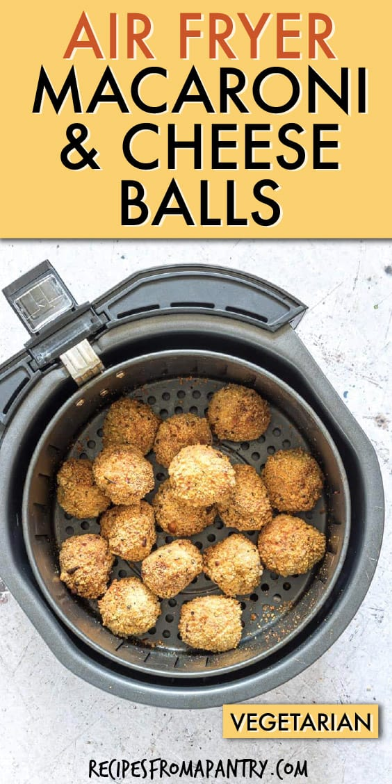 AIR FRYER MACARONI AND CHEESE BALLS