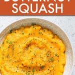 SLOW COOKER MASHED BUTTERNUT SQUASH