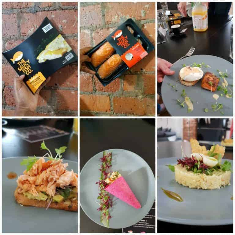 saucy fish product and recipes collage