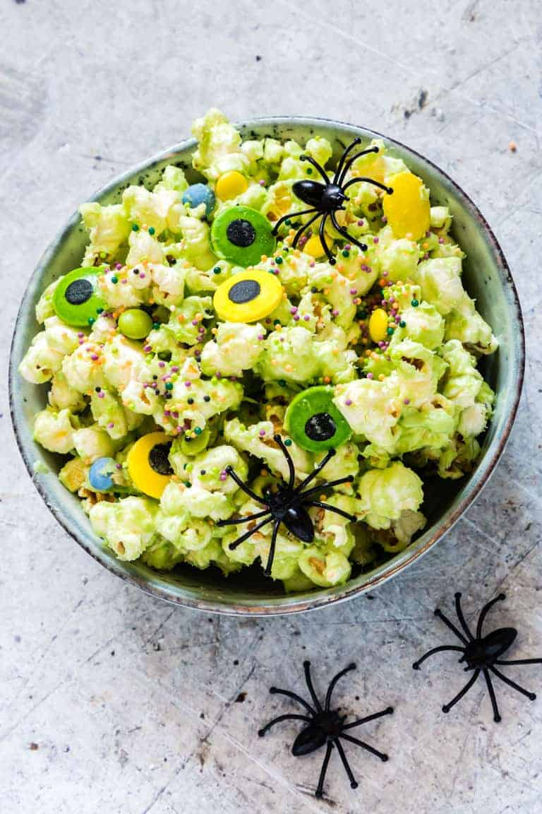 Monster Halloween Popcorn Recipes From A Pantry