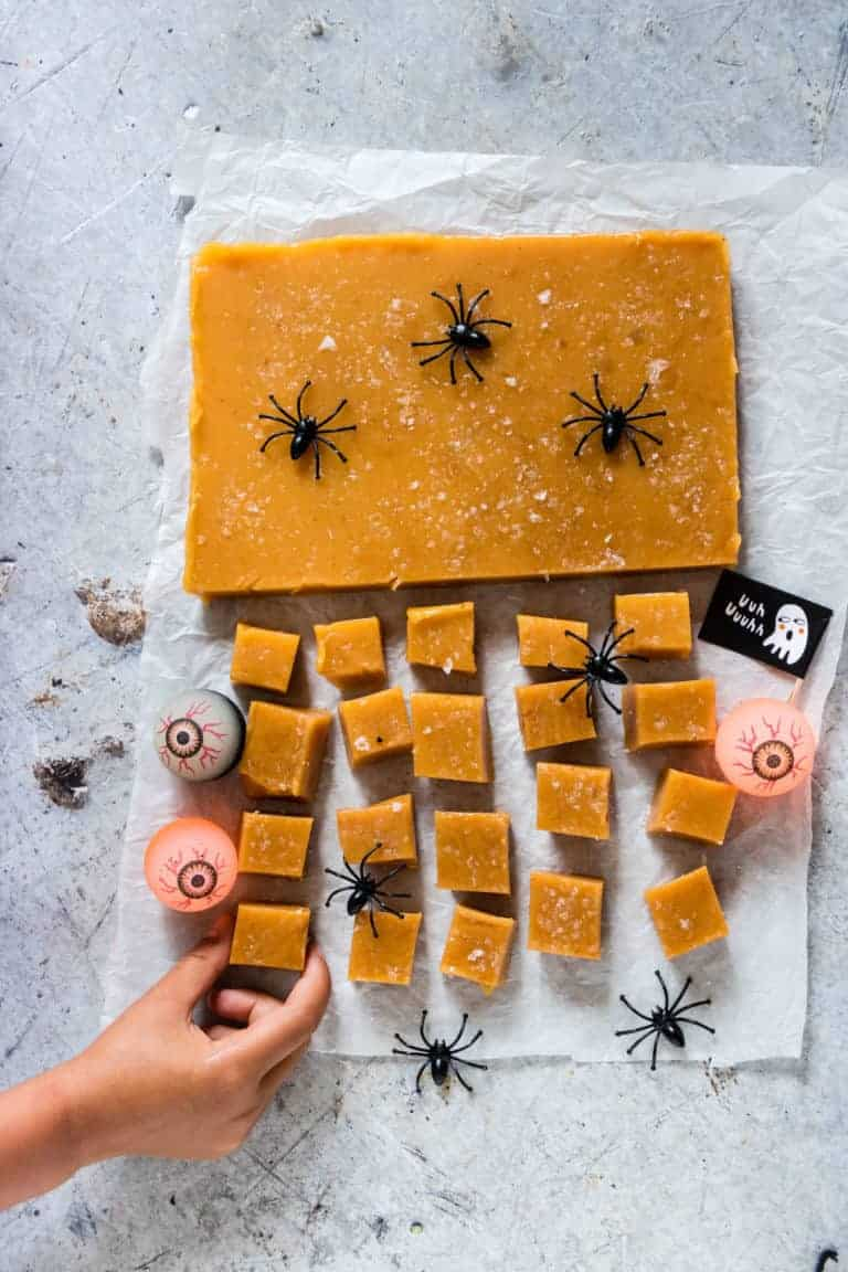 halloween decorated salted caramels