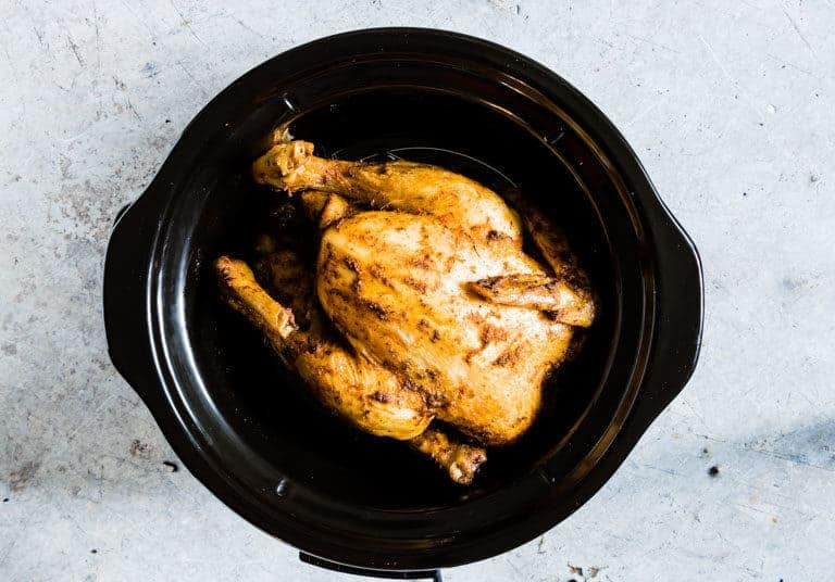 chicken in a slow cooker for making slow cooker whole chicken