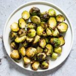 Crispy Air Fryer Brussel Sprouts + Video Tutorial {Gluten-Free, Low Carb, Keto, Paleo, Vegan, Whole 30}