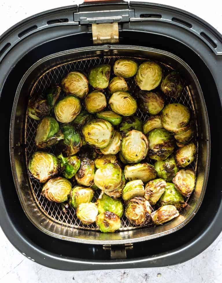 Crispy Air Fryer Brussel Sprouts in the air fryer