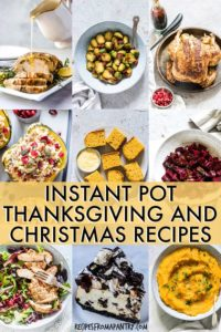 instant pot christmas and thanksgiving recipes