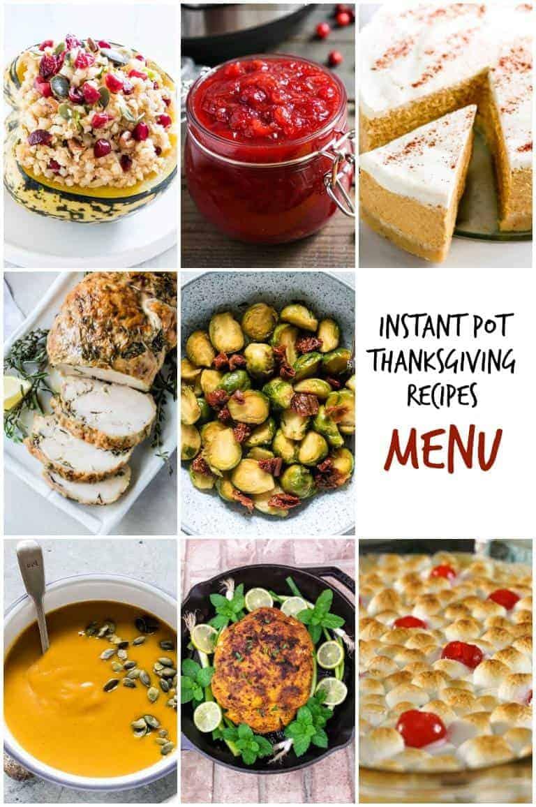 Instant Pot Thanksgiving Recipes Menu