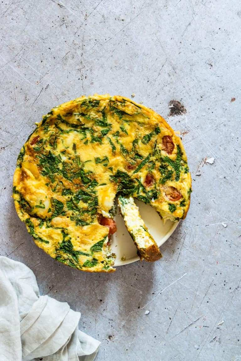 Smoked Haddock and Spinach Frittata