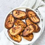air fryer plantains on a plate