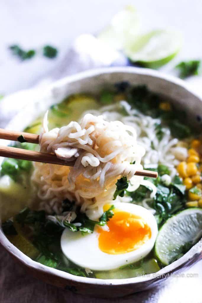cornish hen soup with ramen noodles