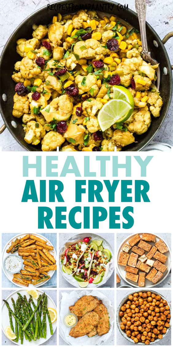 A COLLAGE OF AIR FRYER MEALS