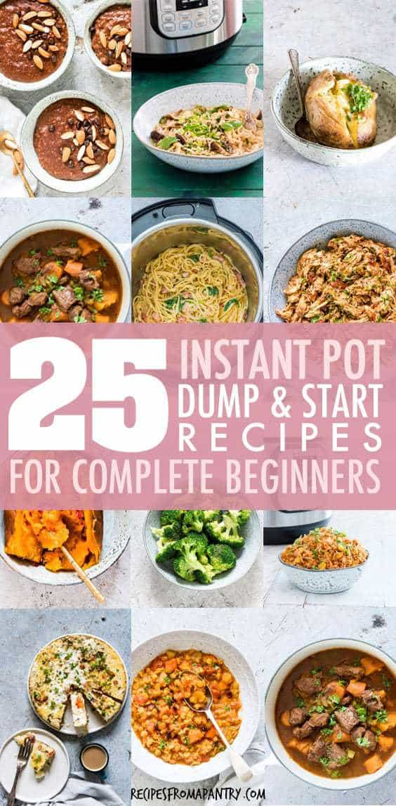 instant pot dump and start recipes for complete beginners