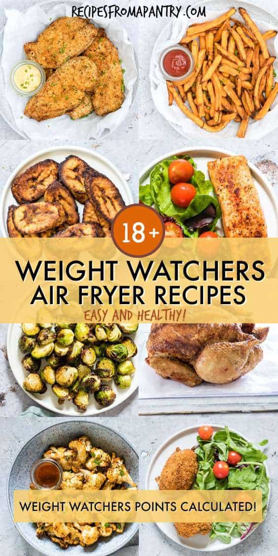 weight watchers air fryer recipes collage