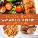 collage of ww air fryer recipe