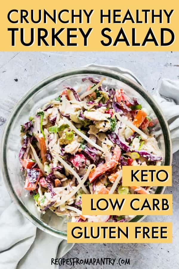 Crunchy healthy turkey salad
