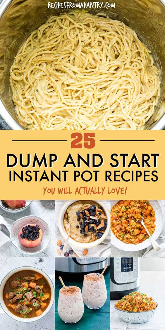25 instant pot dump recipes collage