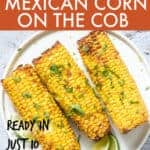 Air fryer mexican corn on the cob