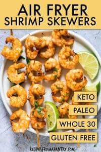 Cilantro lime air fryer shrimp skewers