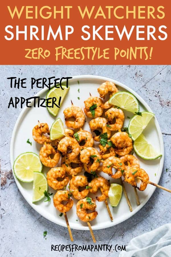 weight watchers air fryer shrimp skewers