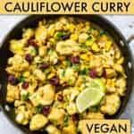 Air fryer cauliflower curry