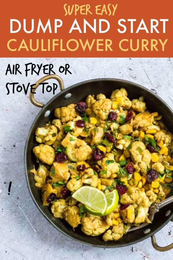 dump and start cauliflower curry