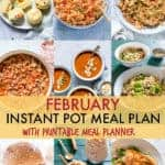 February Instant Pot Meal Plan