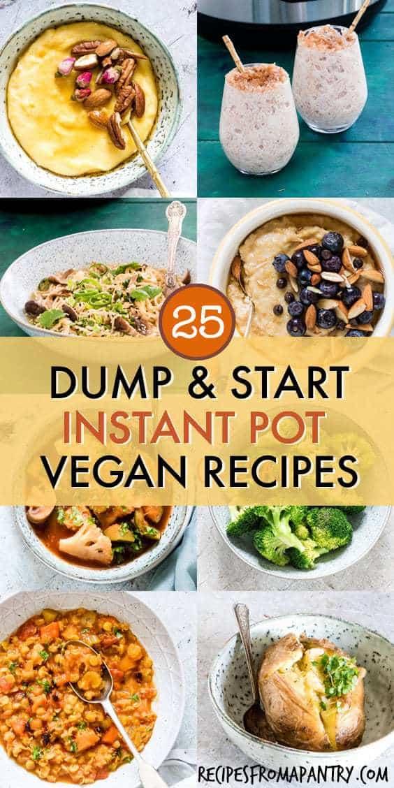 25 dump and push vegan instant pot recipes