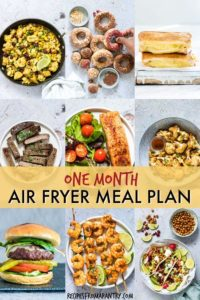 AIR FRYER MEAL PLAN