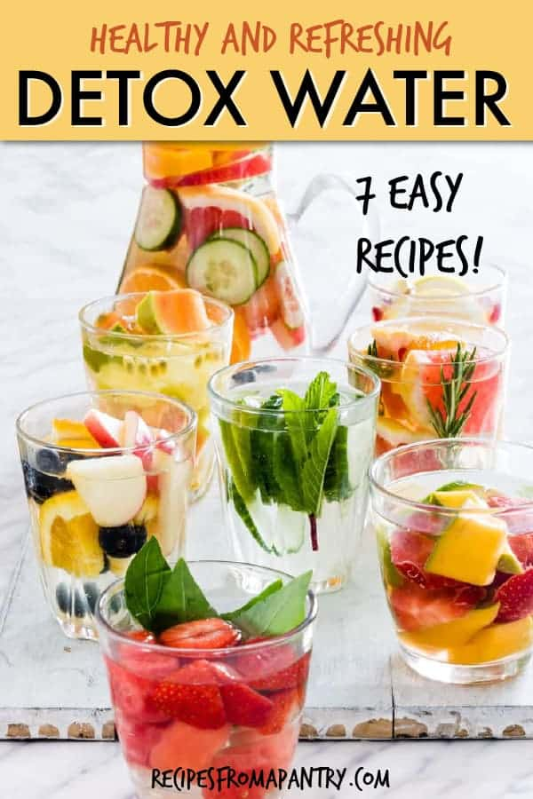 Fruit infused detox water recipes