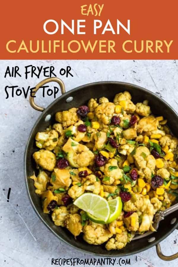 One Pan Cauliflower Curry