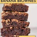 peanut butter banana brownies
