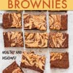 Peanut butter banana vegan brownies