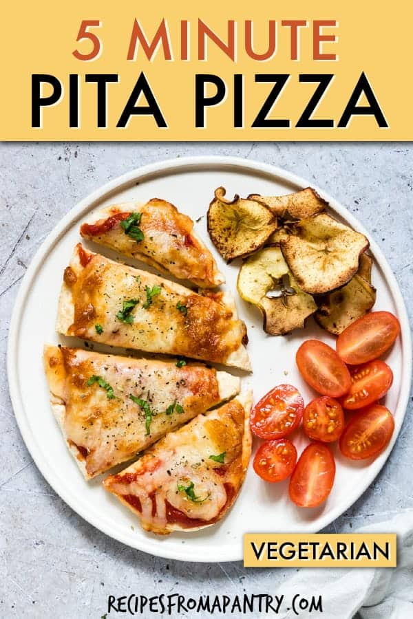 5 MINUTE AIR FRYER PITA PIZZA