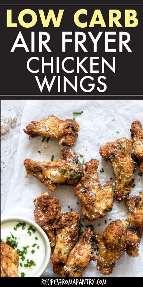 LOW CARB CHICKEN WINGS on a table