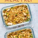 AIR FRYER CHICKEN FRIED RICE MEAL PREP