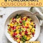 Orange pomegranate pistachio couscous salad