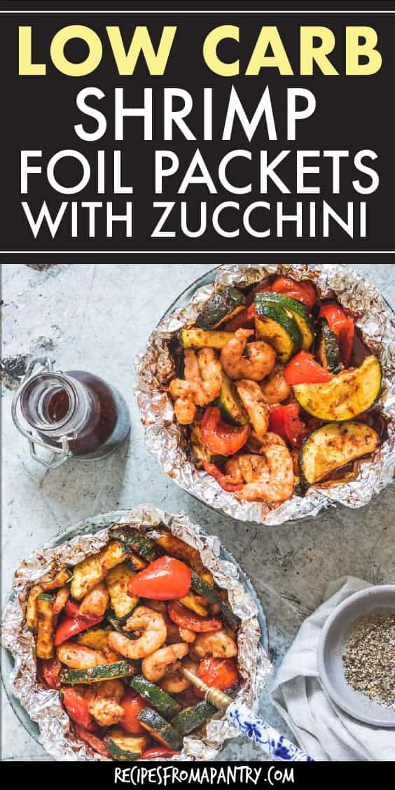 low carb shrimp foil packets with zucchini