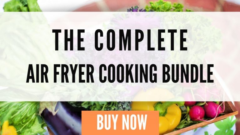 a graphic of an air fryer cooking bundle