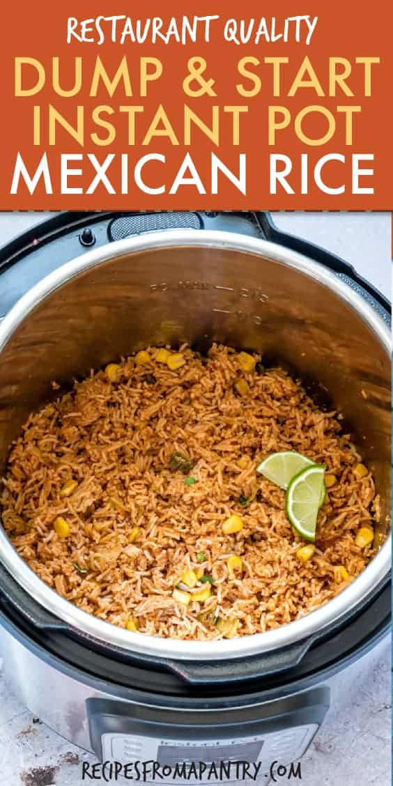 dump and start instant pot mexican rice