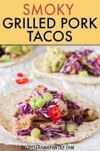 Smoky grilled pork tacos
