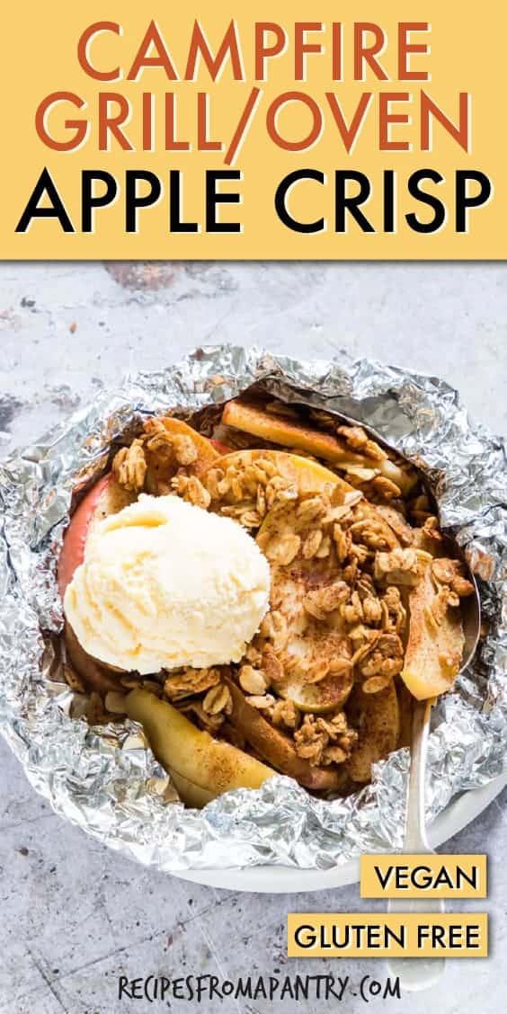 campfire apple crisp foil packets