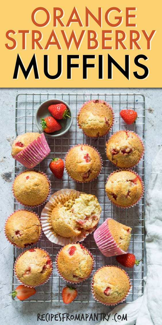 ORANGE STRAWBERRY MUFFINS