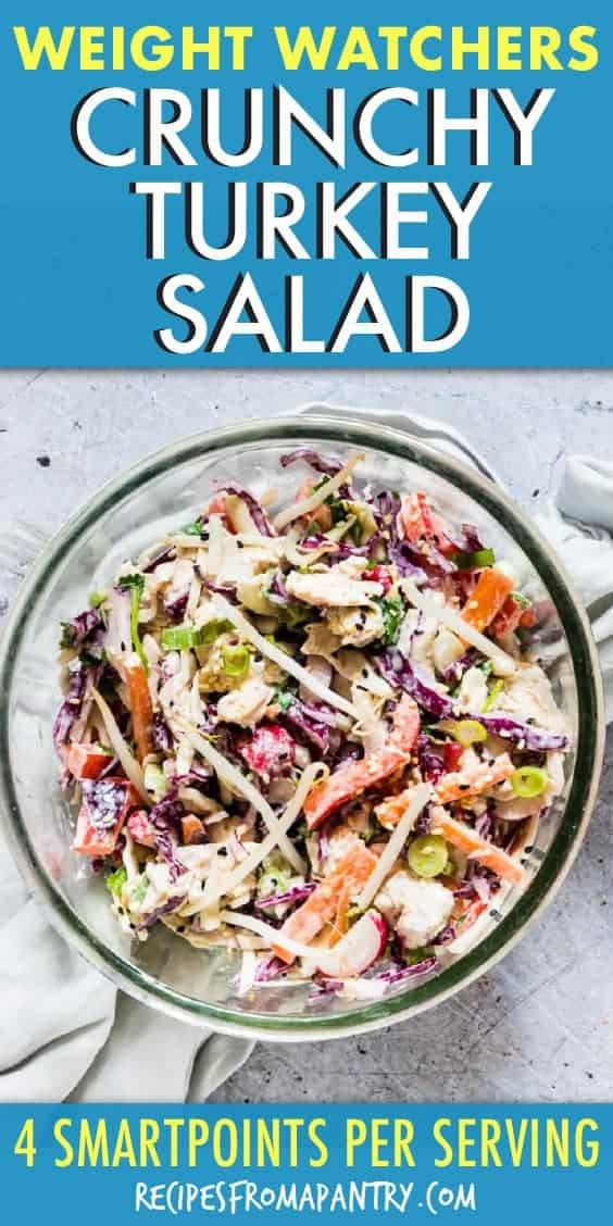 weight watchers crunchy chicken salad
