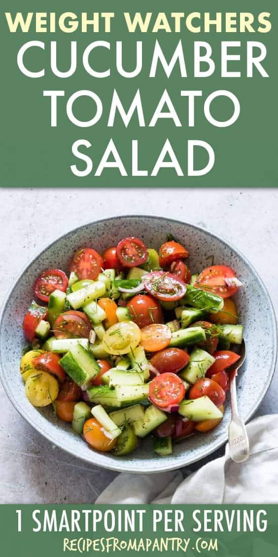 weight watchers cucumber tomato salad