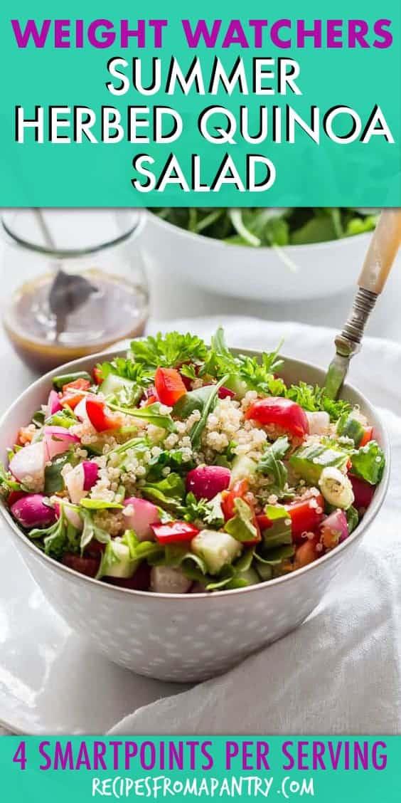weight watchers summer herbed quinoa salad