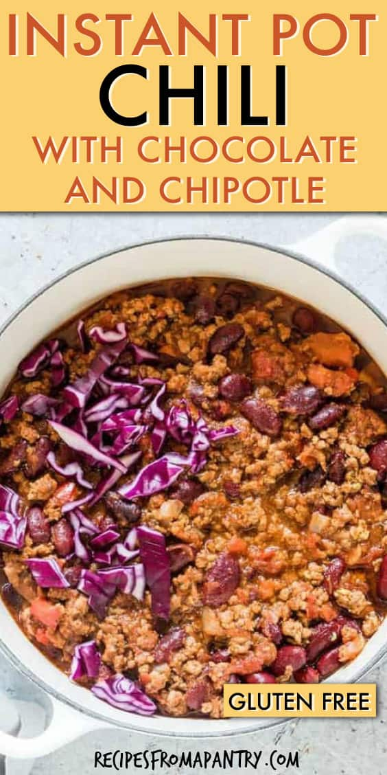 INSTANT POT CHOCOLATE CHIPOTLE CHILI